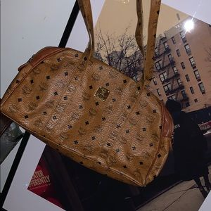 Authentic vintage MCM monogram style tote. (USED)